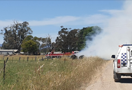 Hay Fire At Milawa